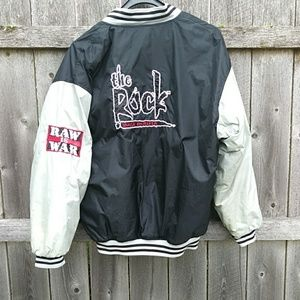 Vintage WWF wrestling jacket The Rock men's XL